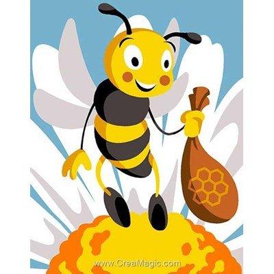Canevas kit enfant complet Margot abeille et le pollen