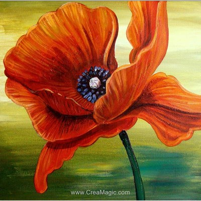 Broderie diamant red poppies - Diamond Painting