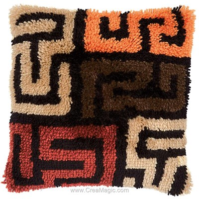 Kit coussin point noue labyrinthe de Vervaco