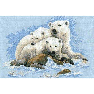 Famille d'ours polaire kit RIOLIS à broder