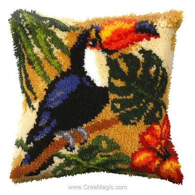 Coussin point noue toucan - Orchidea
