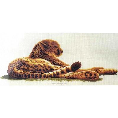 Broderie au point de croix le léopard - Vervaco