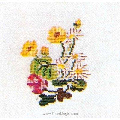 Daisys sur aida kit tableau point de croix - Thea Gouverneur