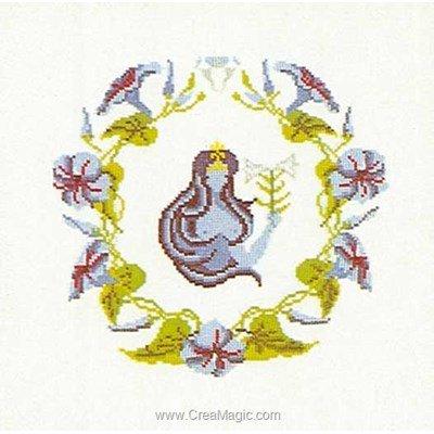 Modèle Thea Gouverneur au point de croix vierge sur lin