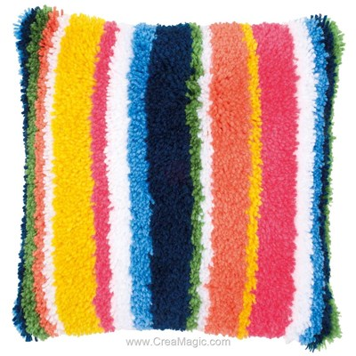Kit coussin point noué segment color - Vervaco