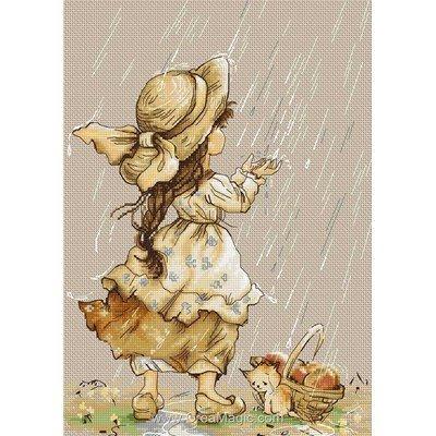 Kit tableau Luca-S point de croix pluie d'été