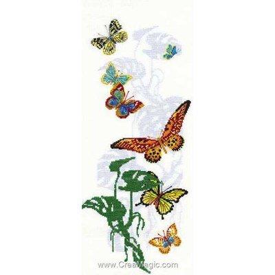 Les papillons exotiques kit broderie point de croix - RIOLIS