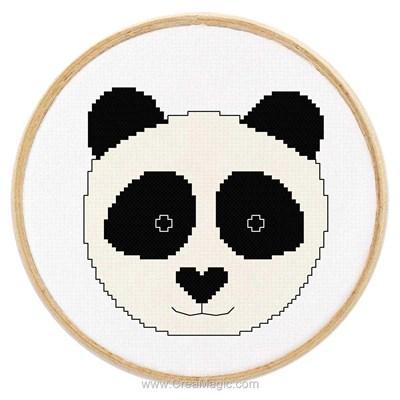 Kit tableau point de croix tableautin petit panda - Princesse