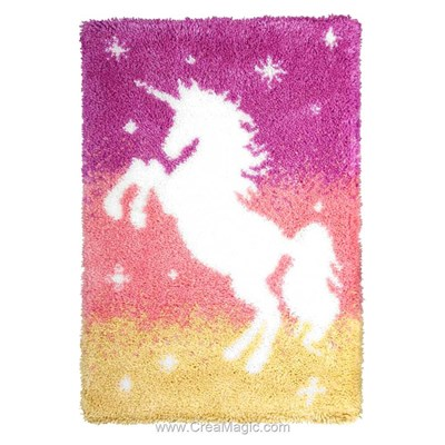 Kit tapis point noué licorne féérique d'Orchidea