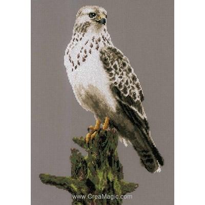 Point de croix de Lanarte à broder faucon