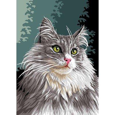 Luc Création canevas chat norvégien