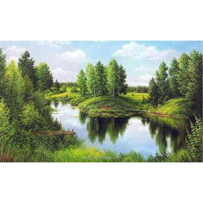 Broderie diamant silent river de Diamond Painting