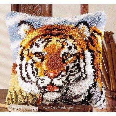 Kit coussin point noué Vervaco le râle du tigre