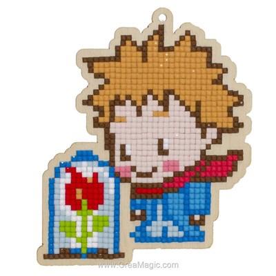 Kit broderie diamant le petit prince et sa rose de Wizardi
