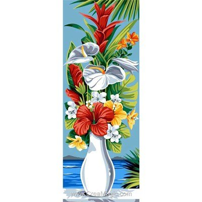 SEG canevas vase exotique