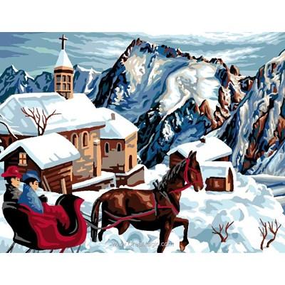 Canevas Luc Création balade en calèche dans le village d'hiver