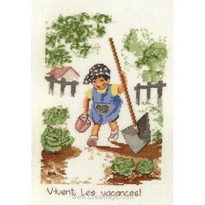 Vive le jardinage broder au point de croix - Anagram