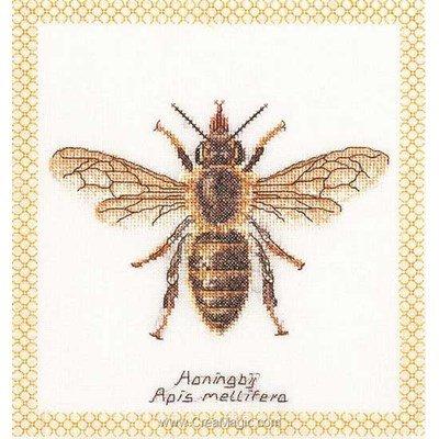 Broderie abeille sur lin de Thea Gouverneur