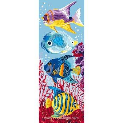 Canevas 4 poissons en aquarium - Luc Création