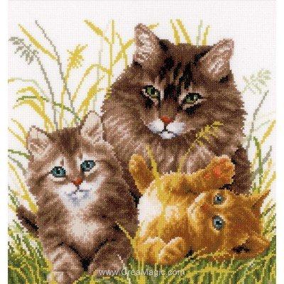 Point de croix Vervaco les chatons et leur maman
