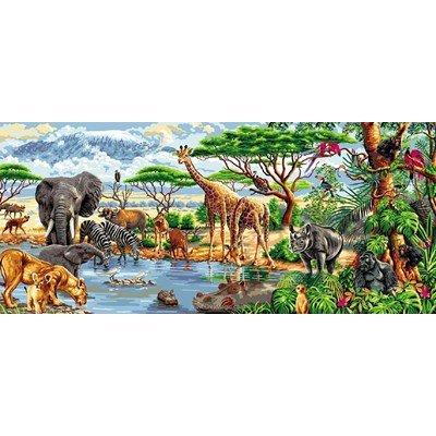 Mimo Verde canevas africa des animaux
