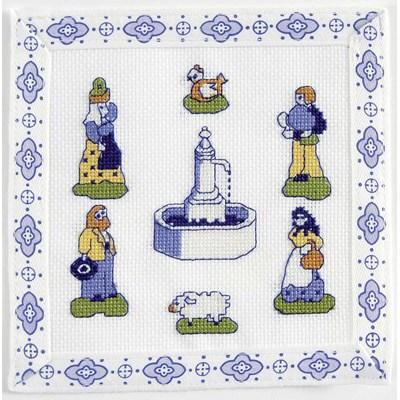 Mini broderie la fontaine aux santons - provence de DMC