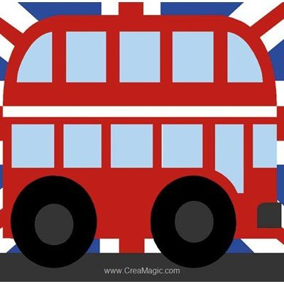 Kit canevas complet le bus anglais de Margot