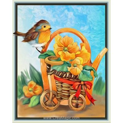 Kit broderie diamant cheerful bird - Diamond Painting