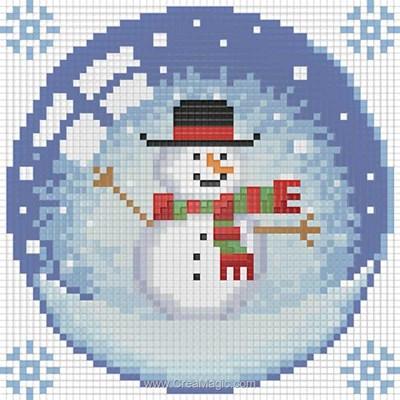 Broderie diamant snowman - Diamond Painting