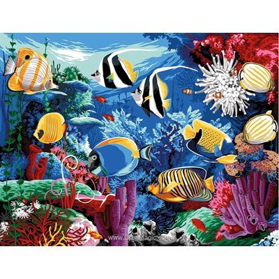 Canevas poissons creamagic for Poissons exotiques aquarium