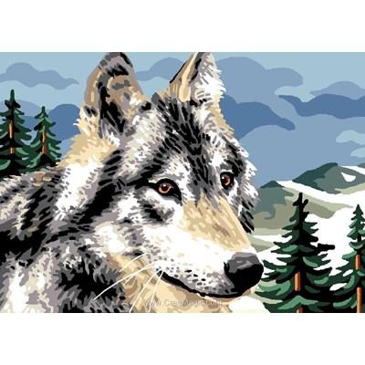 La sagesse du loup canevas de Luc Création