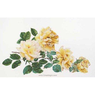 Peace rose sur lin broderie - Thea Gouverneur