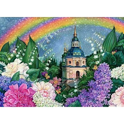 Kit broderie diamant Diamond Painting rainbow colours
