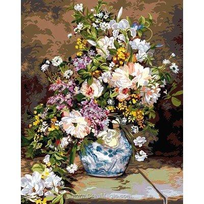 SEG canevas le bouquet d'après pierre-auguste renoir