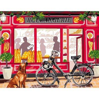 Canevas devant la boulangerie - Luc Création