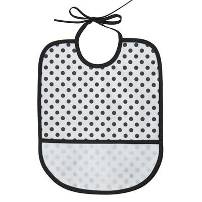 Bavoir bébé à broder blanc à pois - DMC
