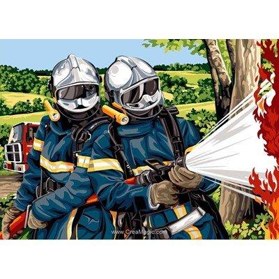 Canevas face aux flammes - SEG