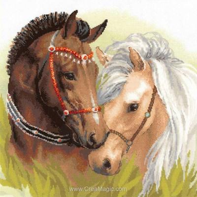 Kit RIOLIS à broder au point de croix les chevaux arabes