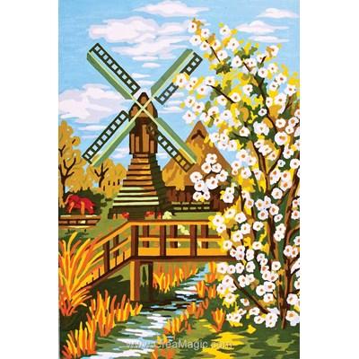 Le petit pont du moulin canevas - Collection d'art