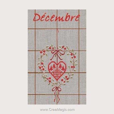 Torchon décembre - 12 à broder - Le Bonheur Des Dames