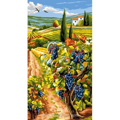 Le sentier des vignes canevas - Rafael Angelot