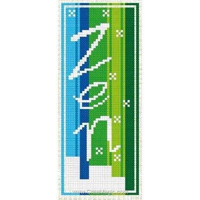 Marque-pages Luc Création zen en vert à broder