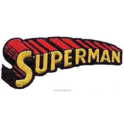 Ecusson thermocollant superman le nom de MLWD