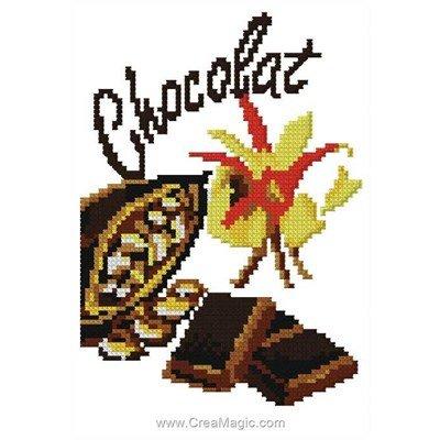 Broderie en point compté chocolat - Luc Création