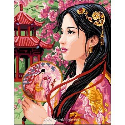 Canevas la princesse d'asie de Rafael Angelot