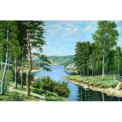 Kit broderie diamant paysage russe de Diamond Painting