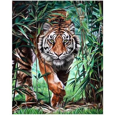 Kit broderie diamant le tigre prédateur de Wizardi