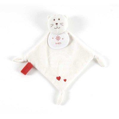 Doudou pour bébé chaton+ coffret cadeau à broder de DMC