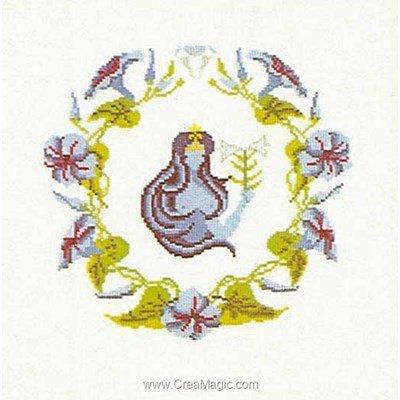 Kit point de croix de Thea Gouverneur à broder virgo sur aida