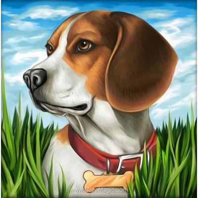 Kit broderie diamant beagle de Diamond Painting